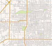 Map of a suburban road network
