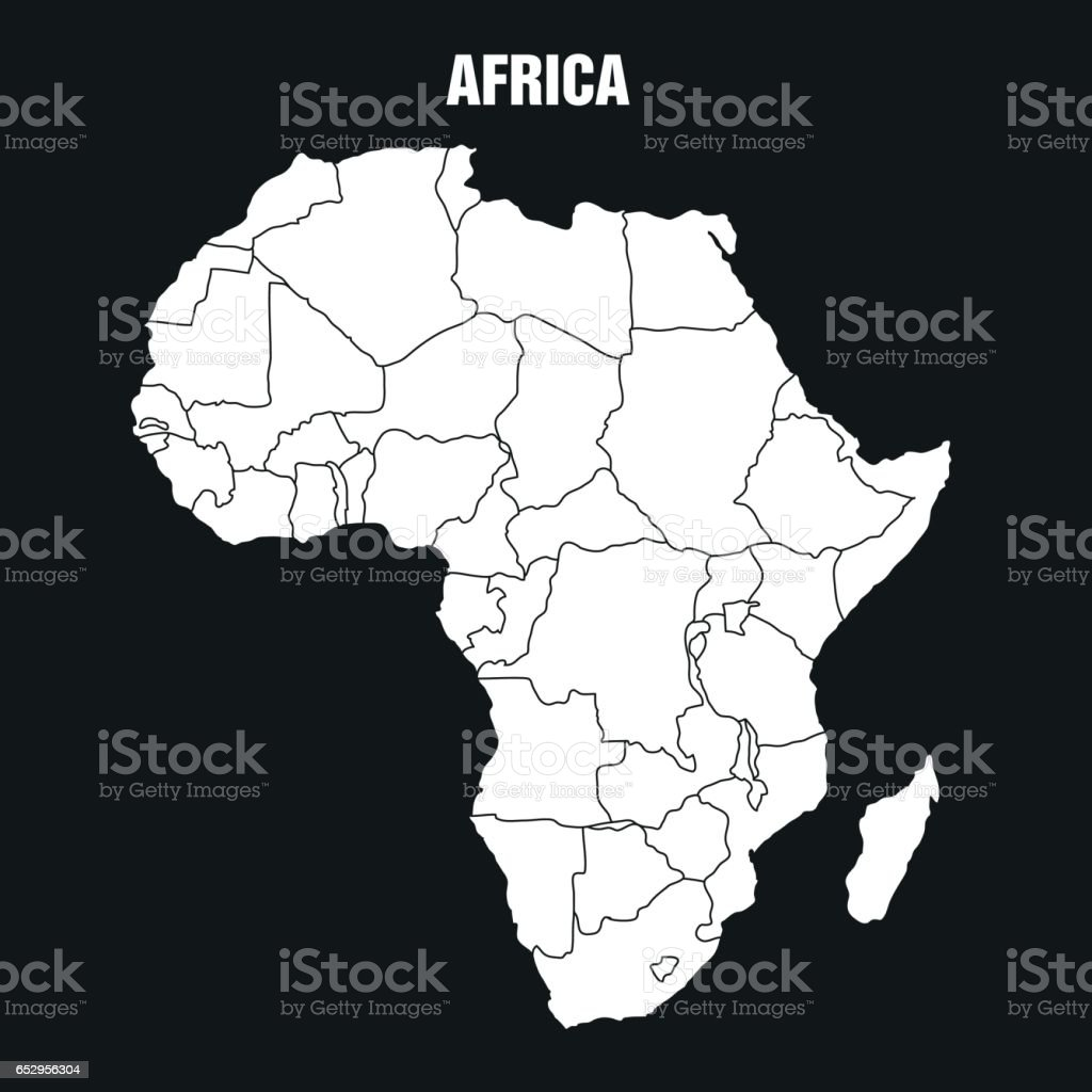 Map of African Continent - Illustration vector art illustration