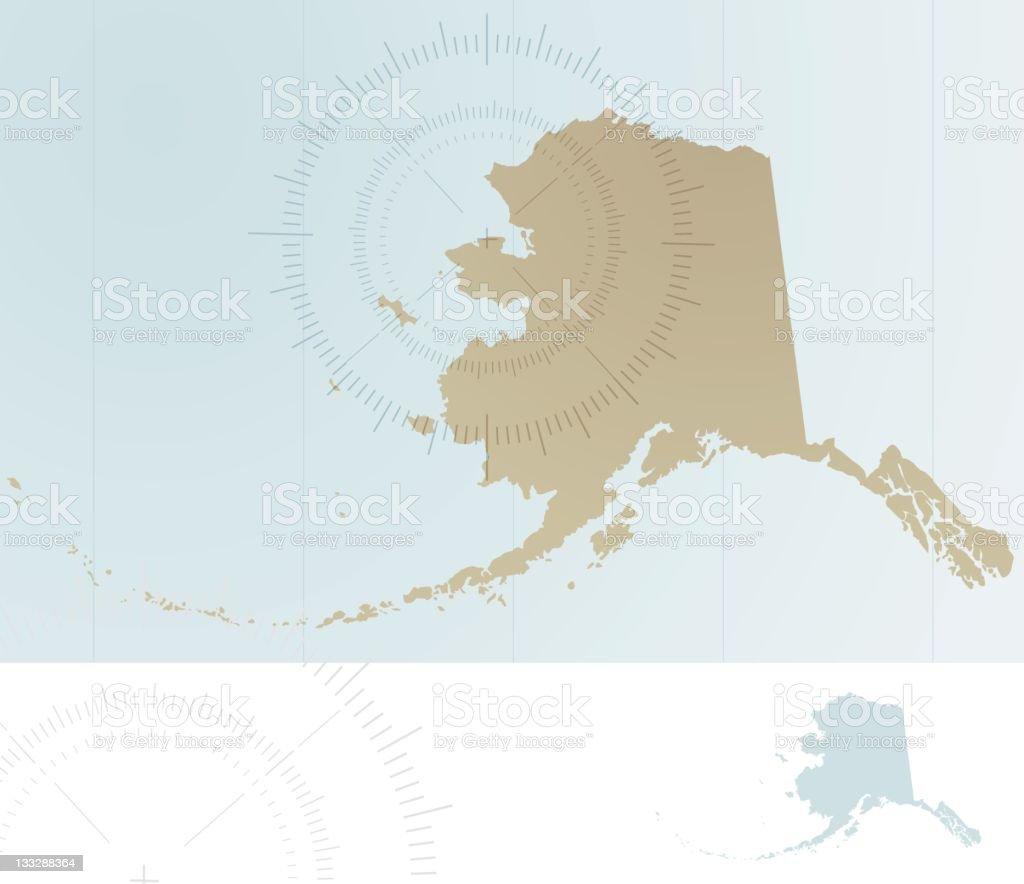 Map of Alaska royalty-free stock vector art