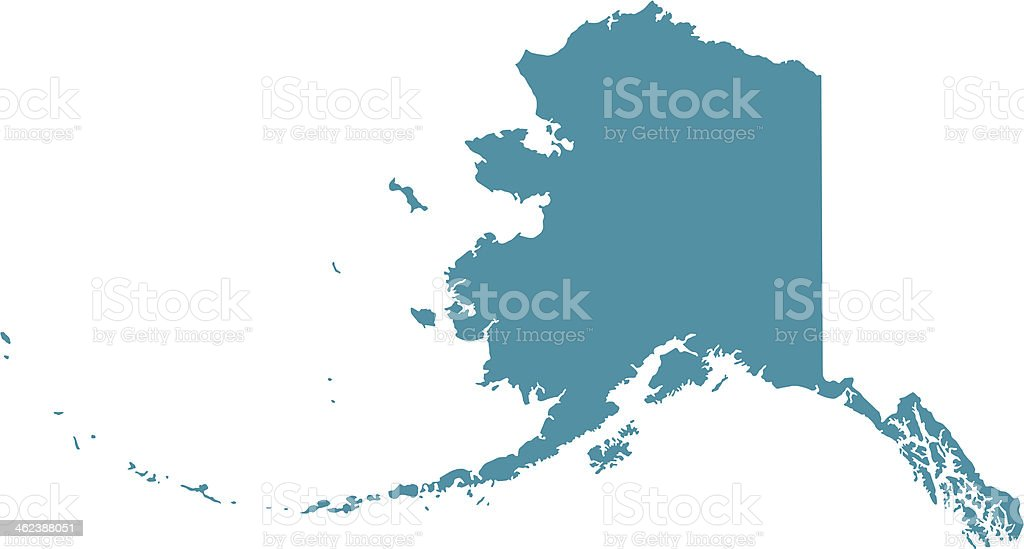 Map of Alaska vector art illustration