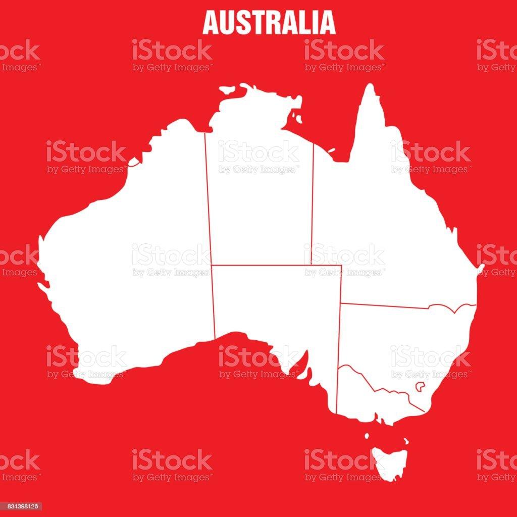 Map of Australia - Illustration vector art illustration