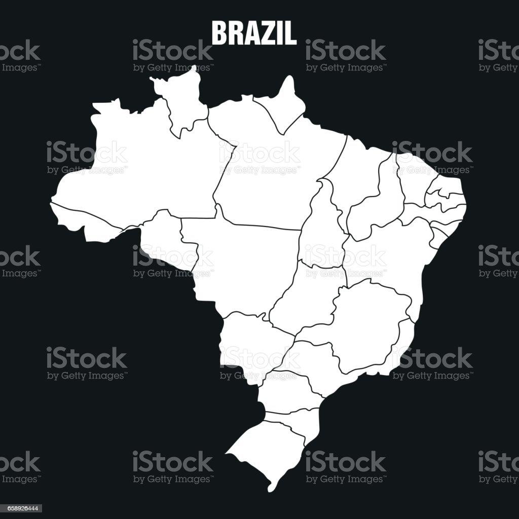 Map of Brazil - Illustration vector art illustration