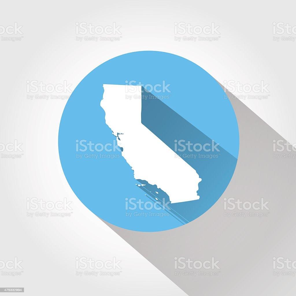 Map of California vector art illustration