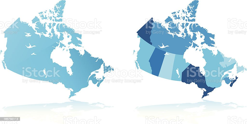 Map of Canada royalty-free stock vector art