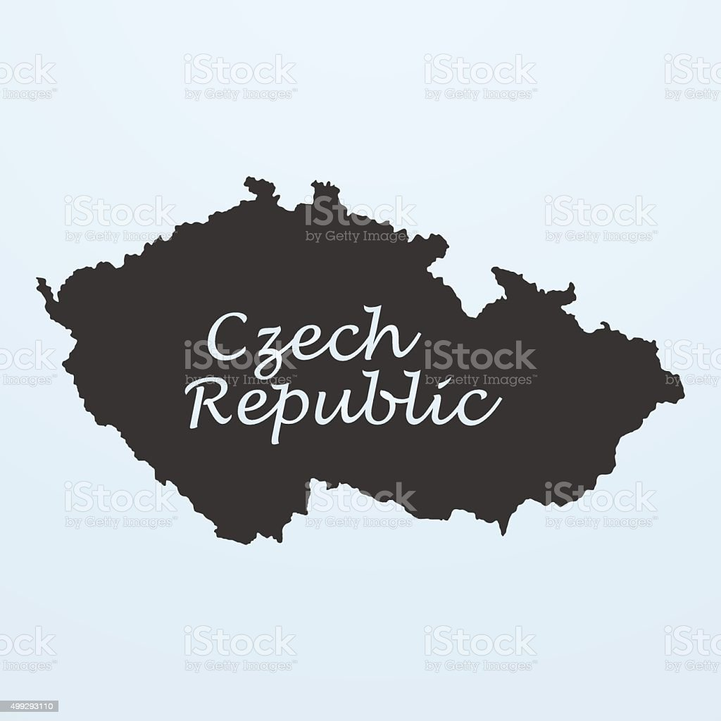 Map of Czech Republic vector art illustration