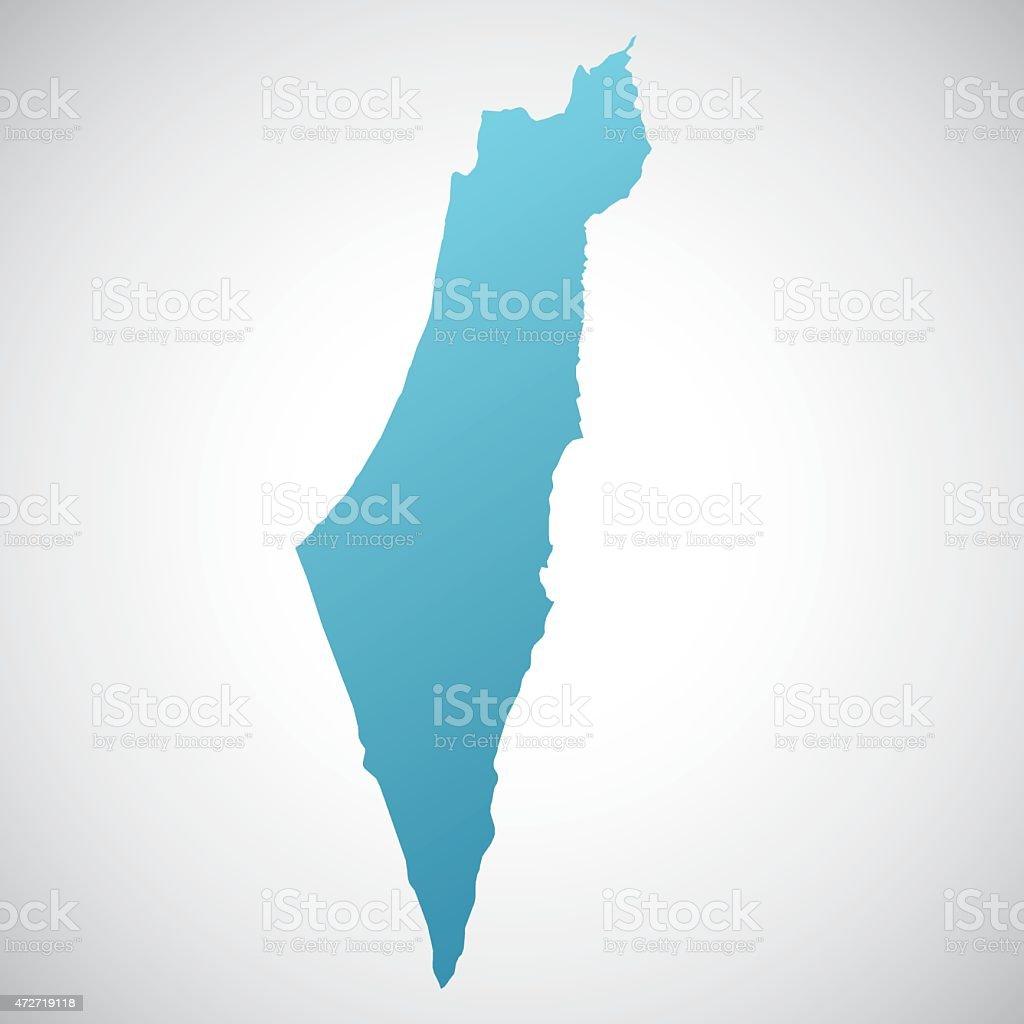 map of Israel vector art illustration