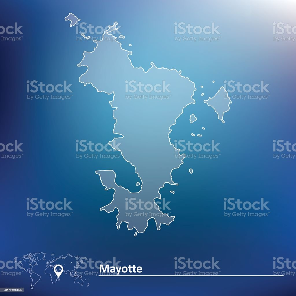 Map of Mayotte vector art illustration