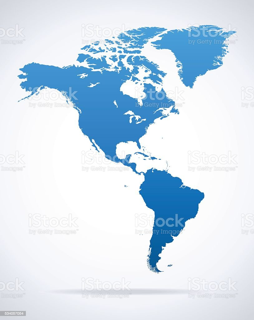 Map Of North And South America Stock Vector Art  IStock - South america argentina map