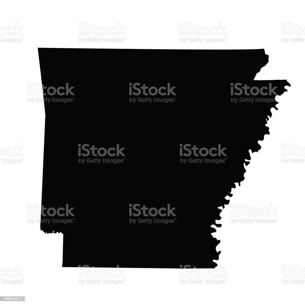 Map Of The Us State Arkansas Stock Vector Art  IStock - Us map with arkansas