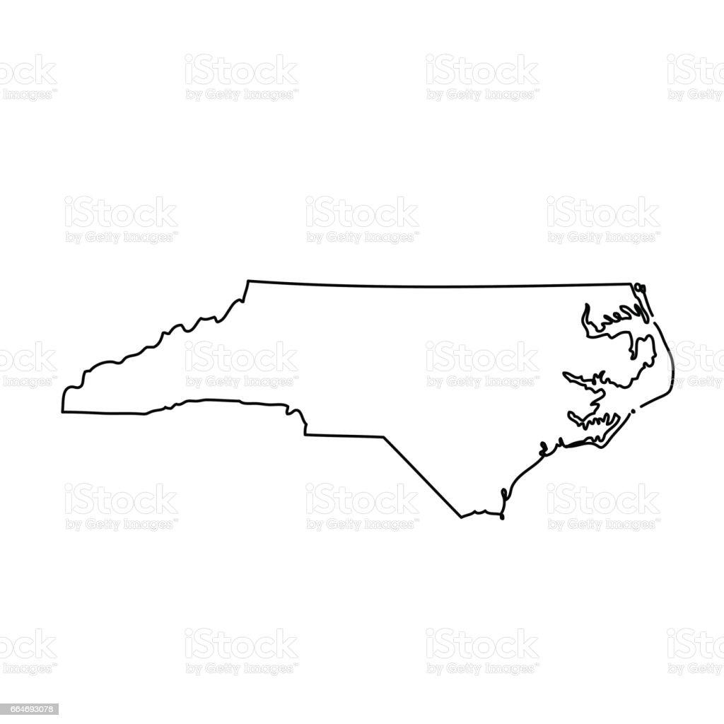 Map Of The Us State North Carolina Stock Vector Art IStock - Carolina map us