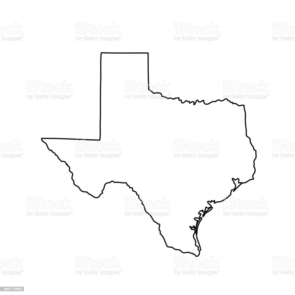 Map Of The Us State Of Texas Stock Vector Art IStock - Us map of texas