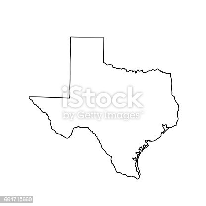 Map Of The Us State Of Texas Stock Vector Art IStock - Us map texas vector