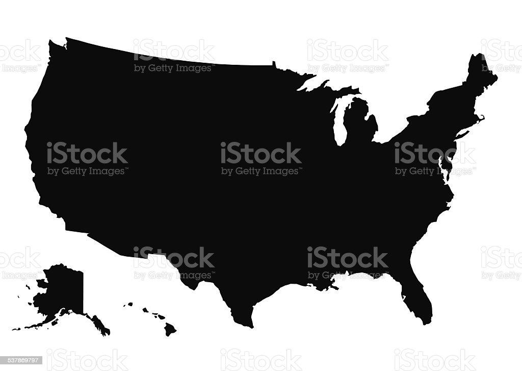 Map of the USA Vector Illustration vector art illustration