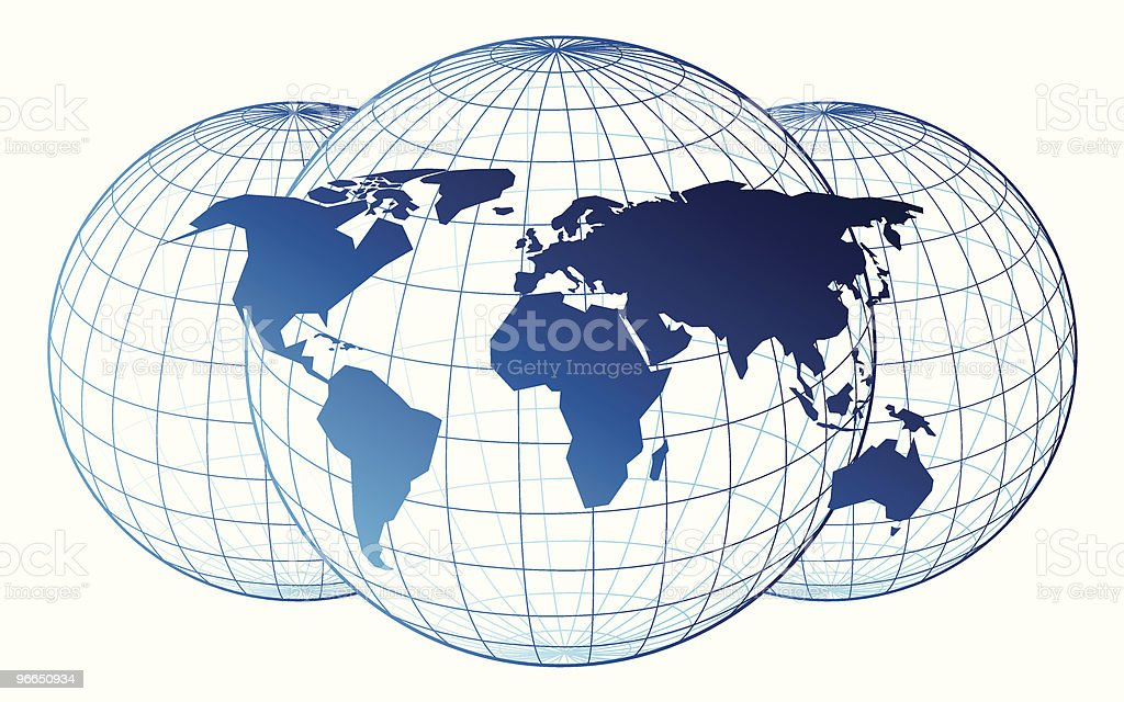 Map of the world royalty-free stock vector art