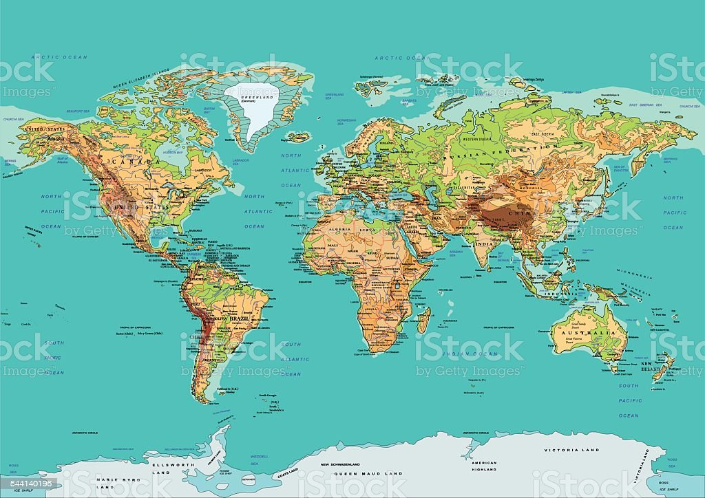 Map of the World. Vector illustration vector art illustration