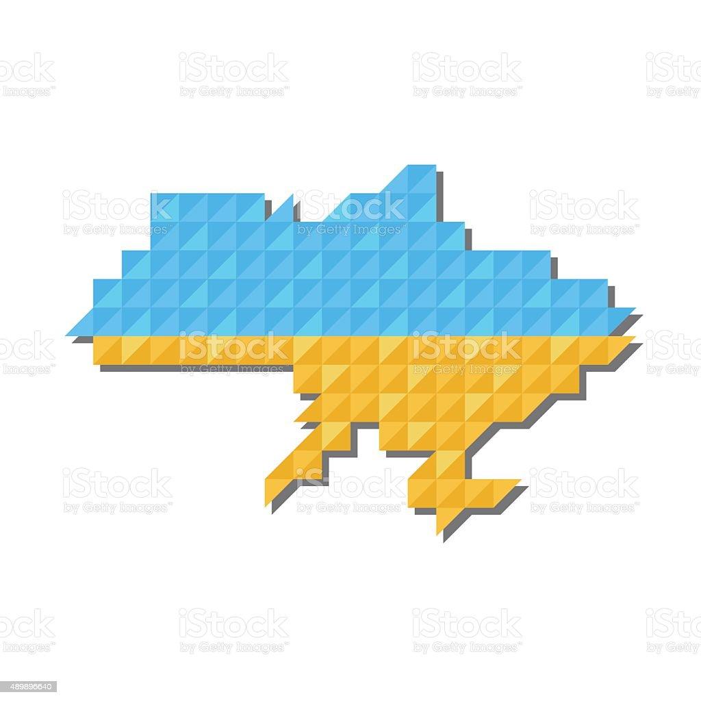 Map of Ukraine, vector vector art illustration