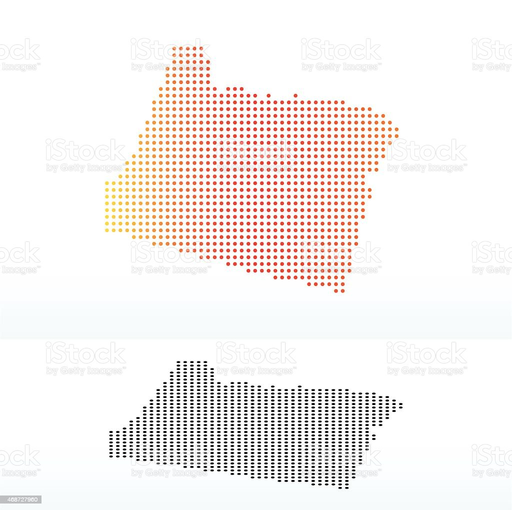 Map of USA Oregon State with Dot Pattern vector art illustration