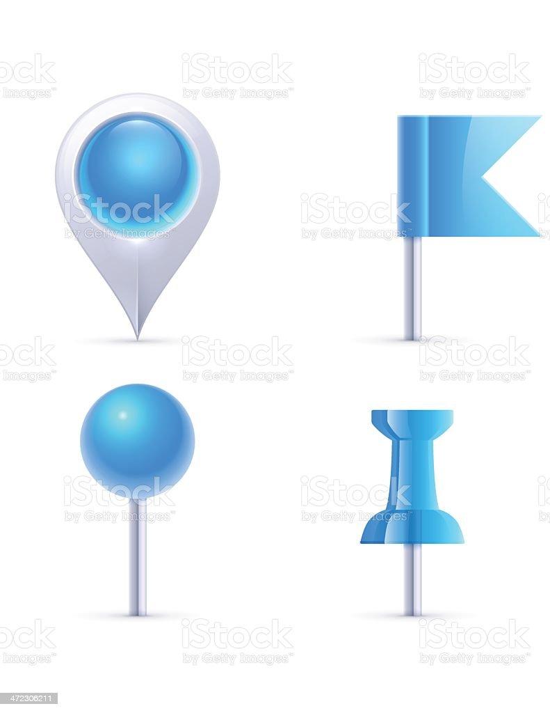 Map Pins royalty-free stock vector art