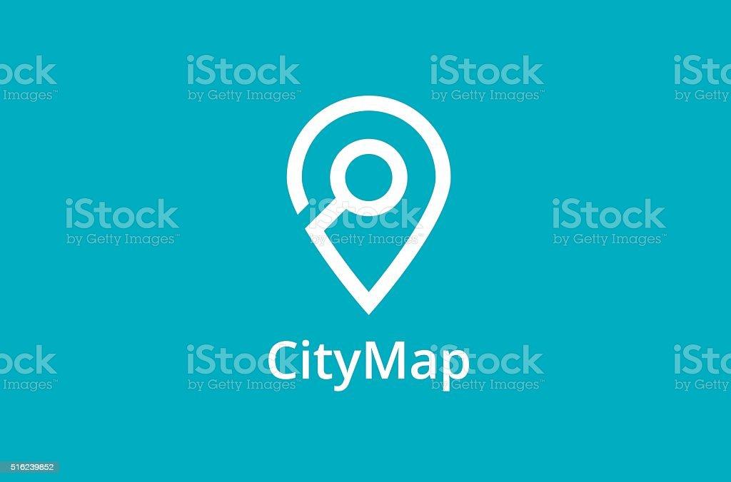 Map Point Location icon vector art illustration