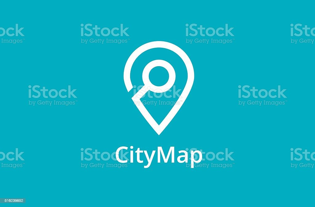 Map Point Location icon vector art illustration