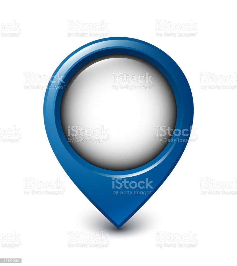 Map pointer icon on white background vector art illustration