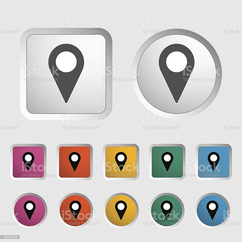 Map pointer single icon. royalty-free stock vector art