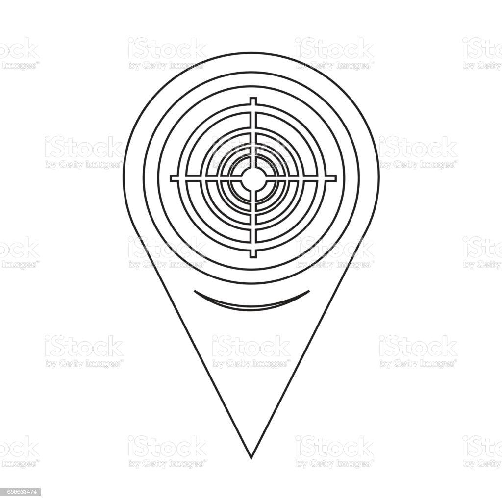 Map Pointer Target Icon vector art illustration