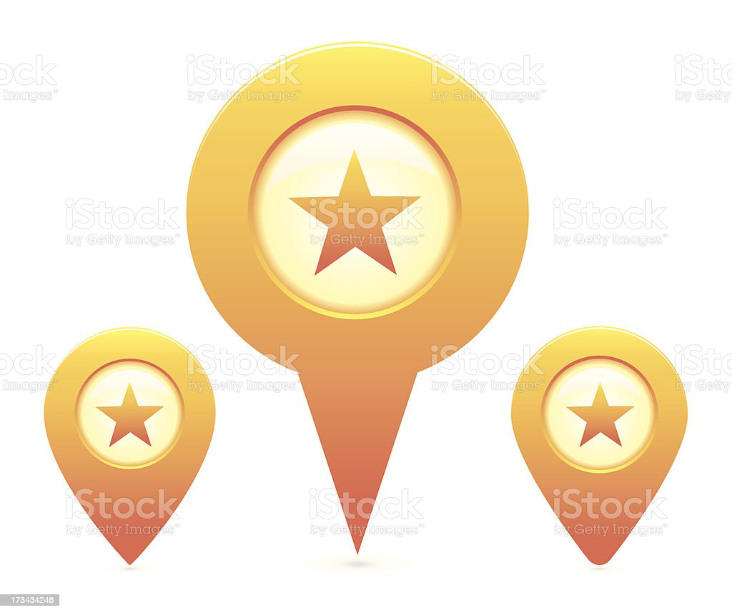 Map Pointer royalty-free stock vector art