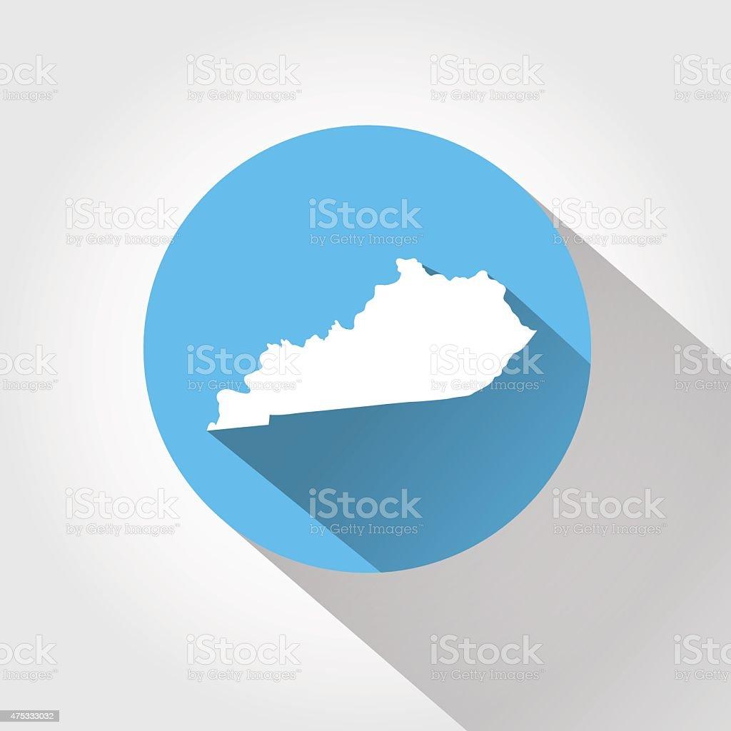 Map state of Kentucky vector art illustration
