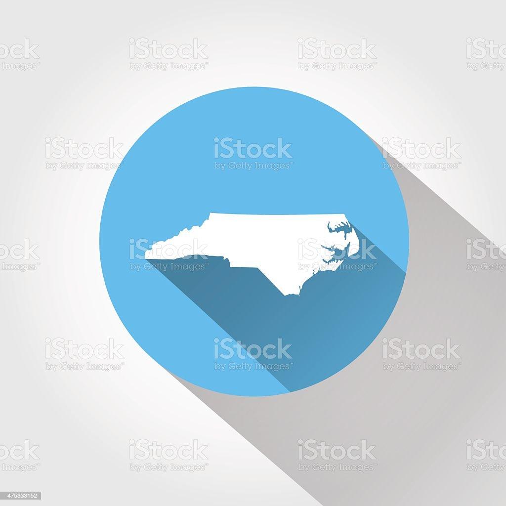Map state of North Carolina vector art illustration