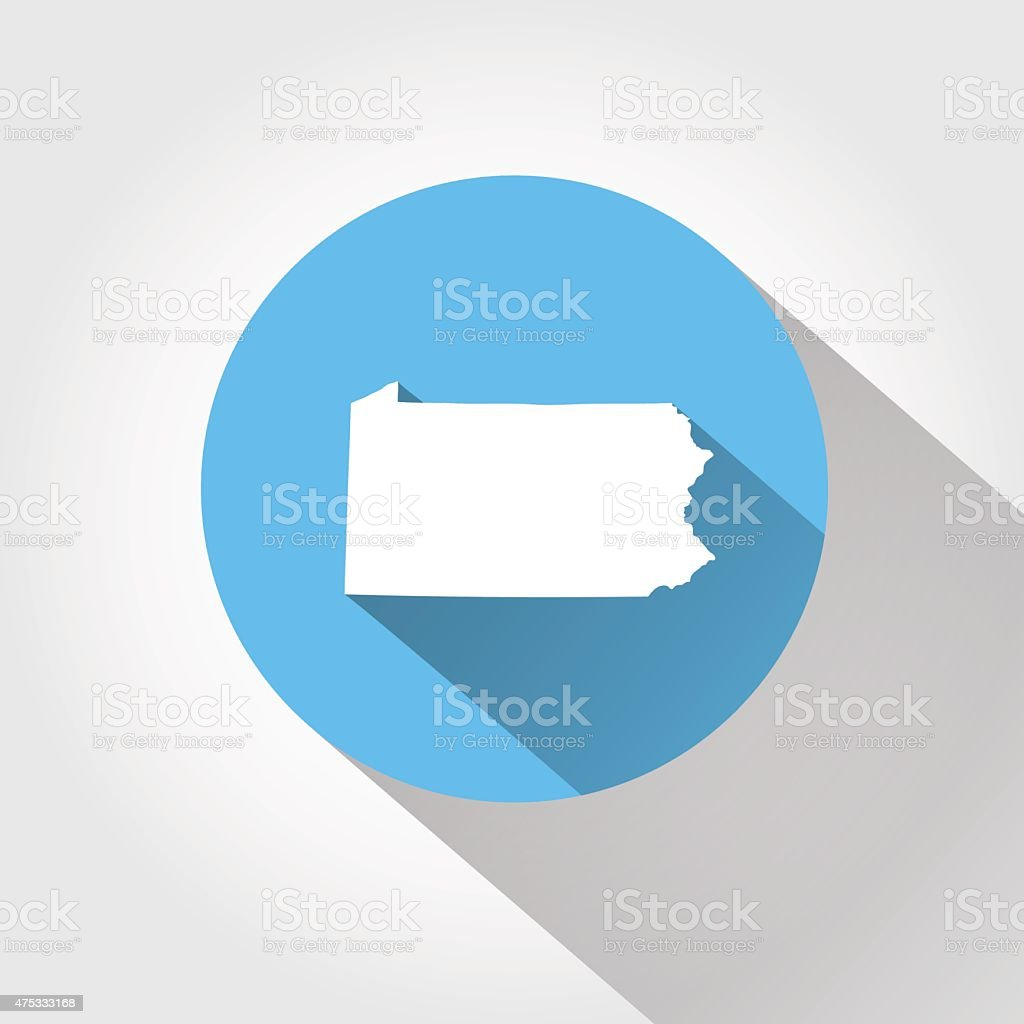 Map state of Pennsylvania vector art illustration