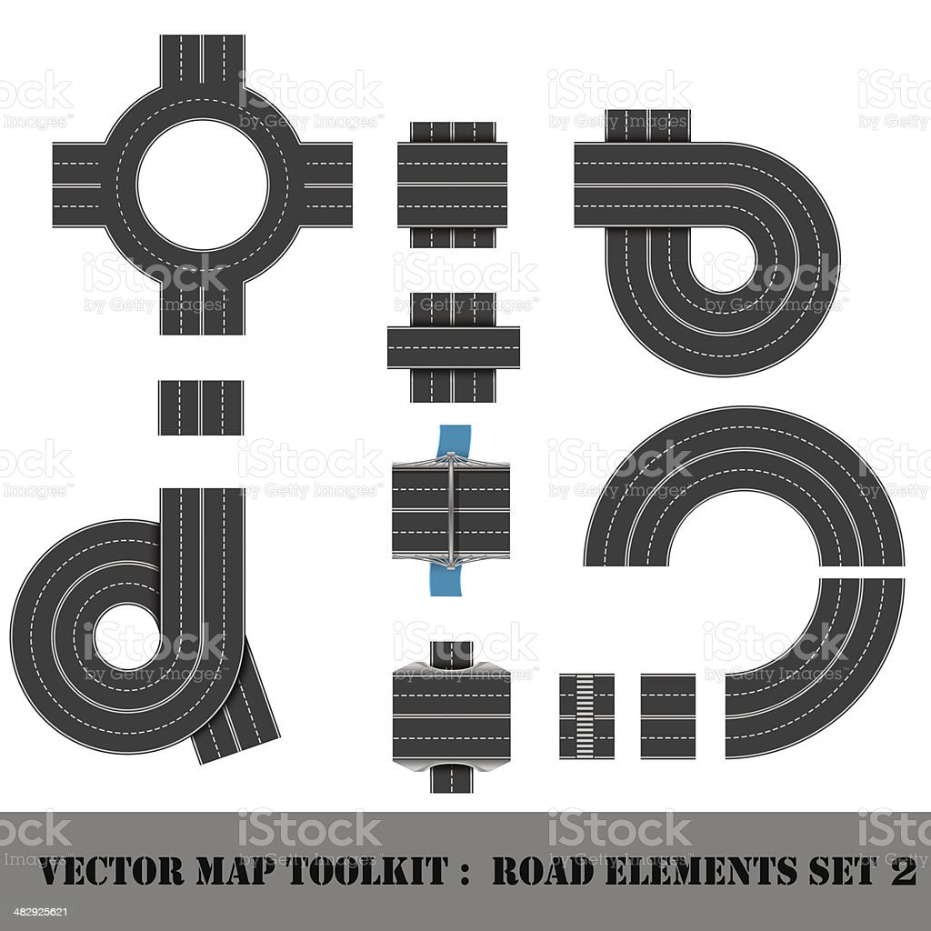 Map Toolkit. Top View Position. vector art illustration