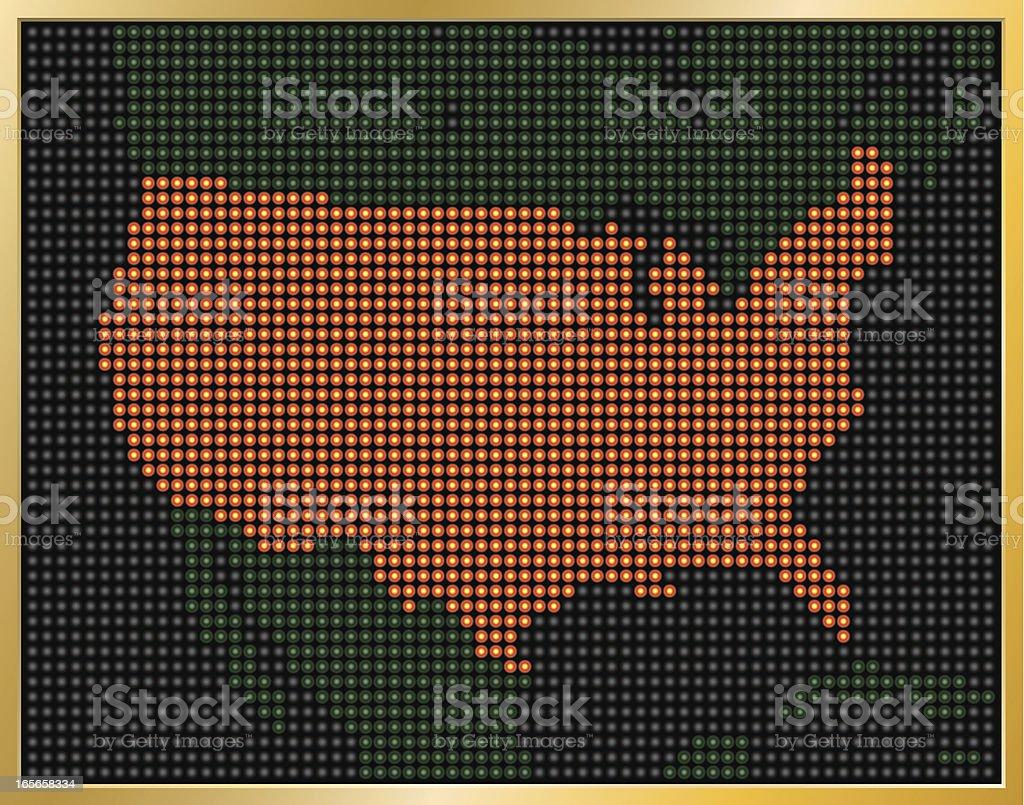LED USA Map vector art illustration