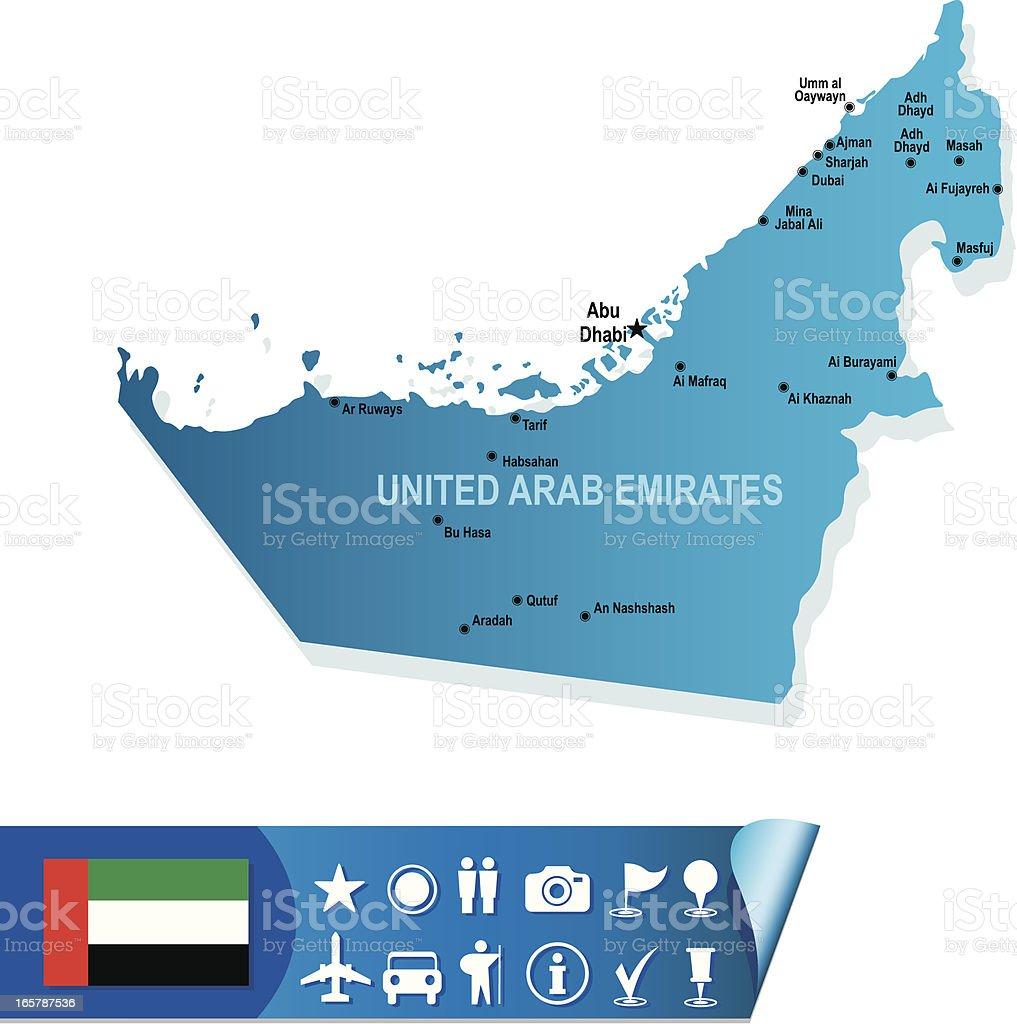 UNITED ARAB EMIRATES map royalty-free stock vector art