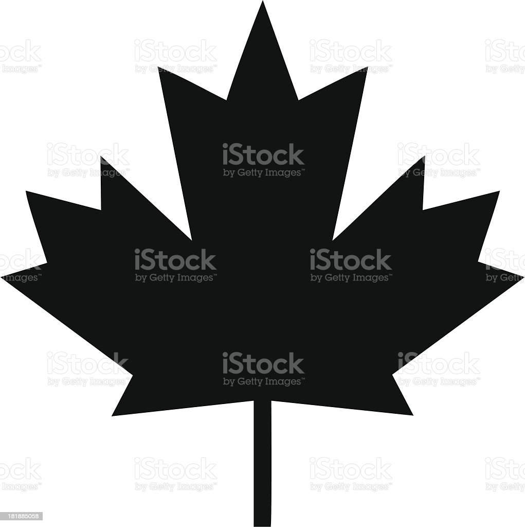 Maple Leaf Icon vector art illustration
