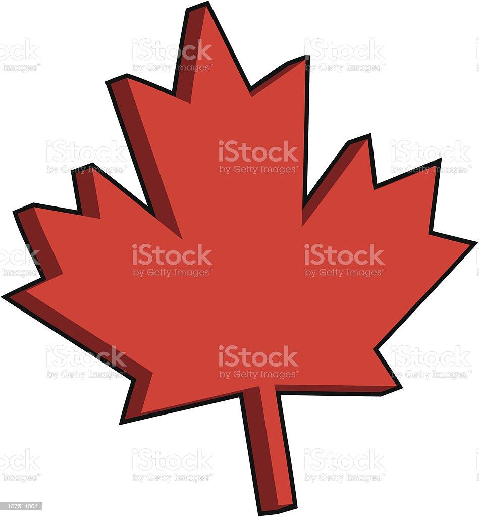 3D Maple Leaf royalty-free stock vector art
