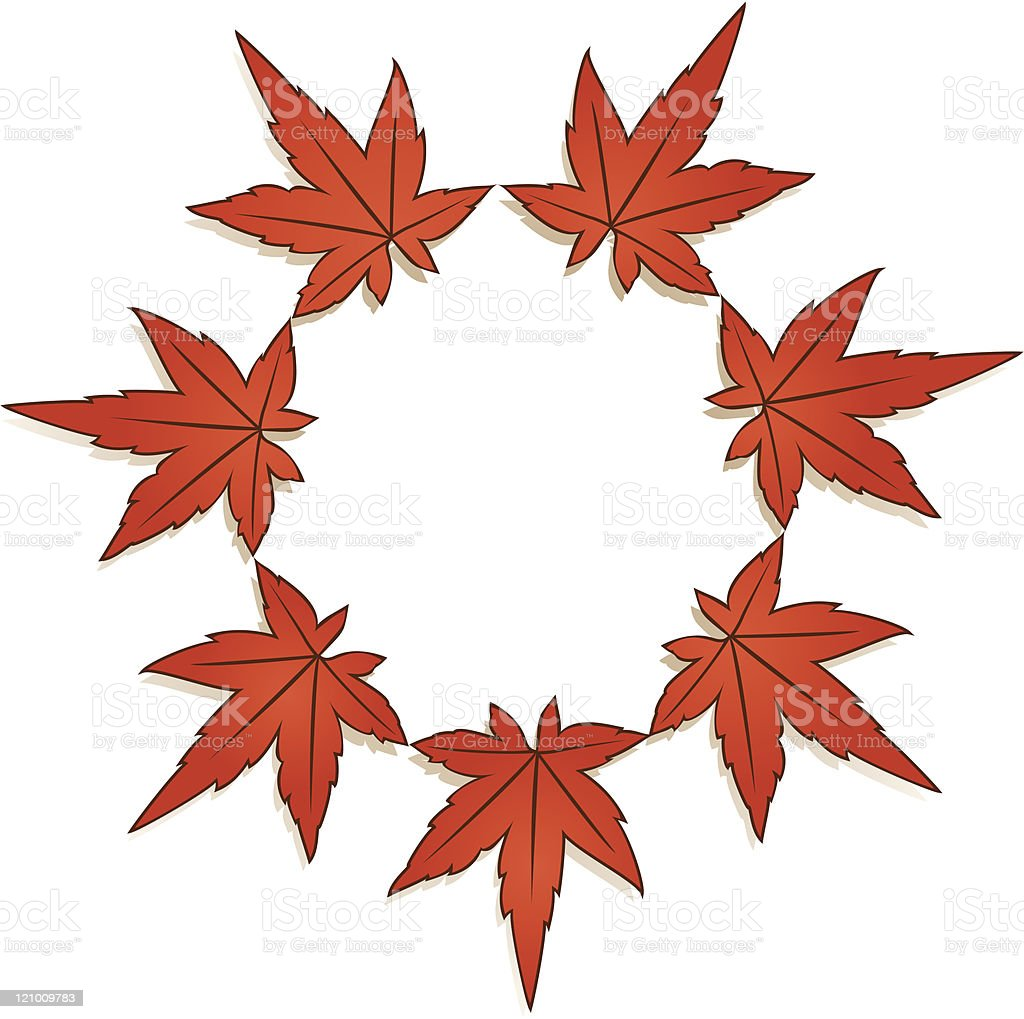 Maple leaves - Autumn colours royalty-free stock vector art
