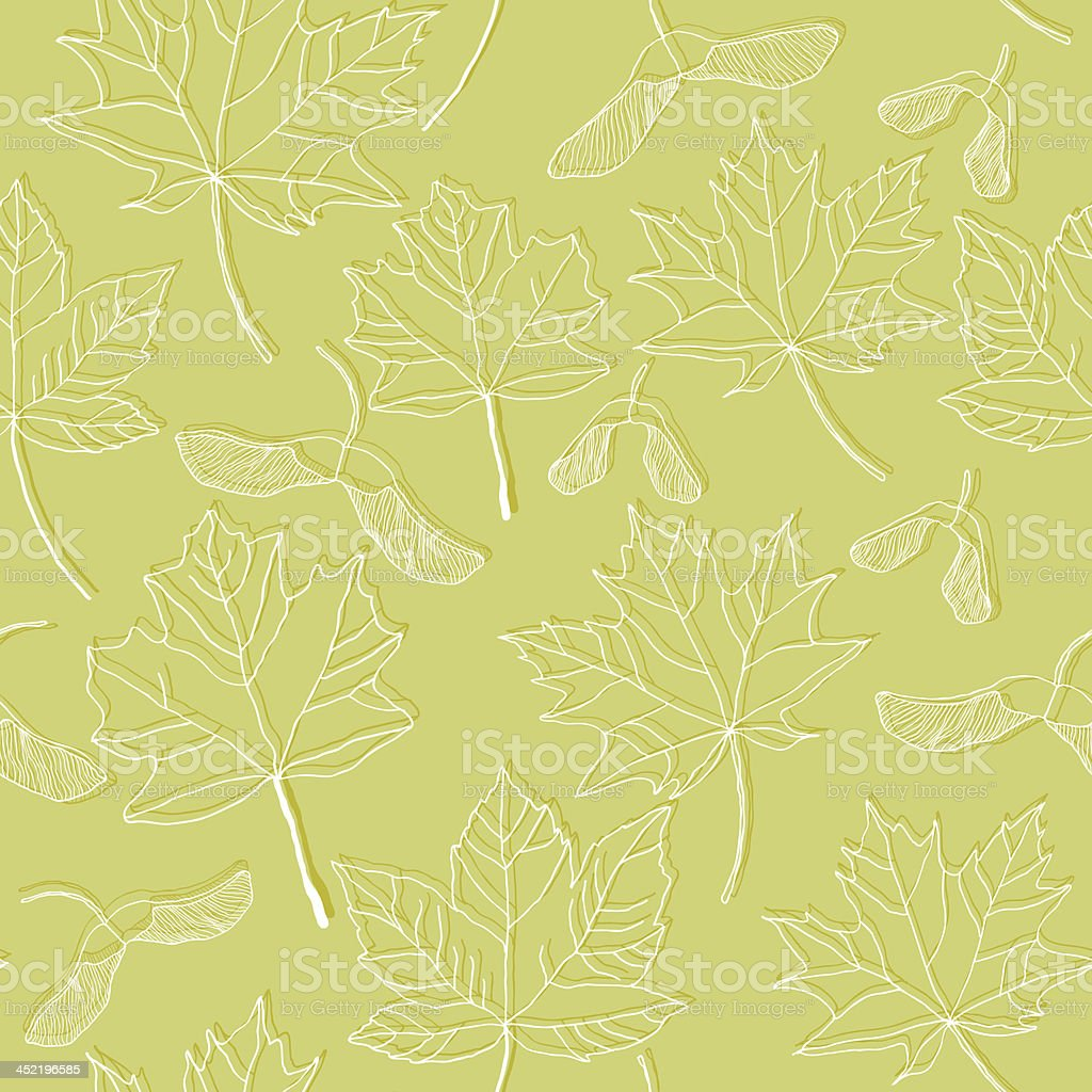 Maple leaves seamless pattern royalty-free stock vector art