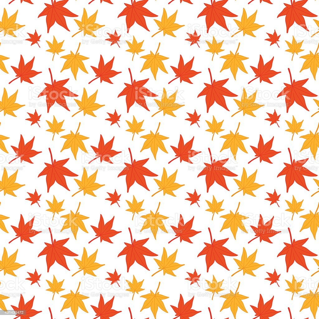 Maple leaves seamless pattern. vector art illustration