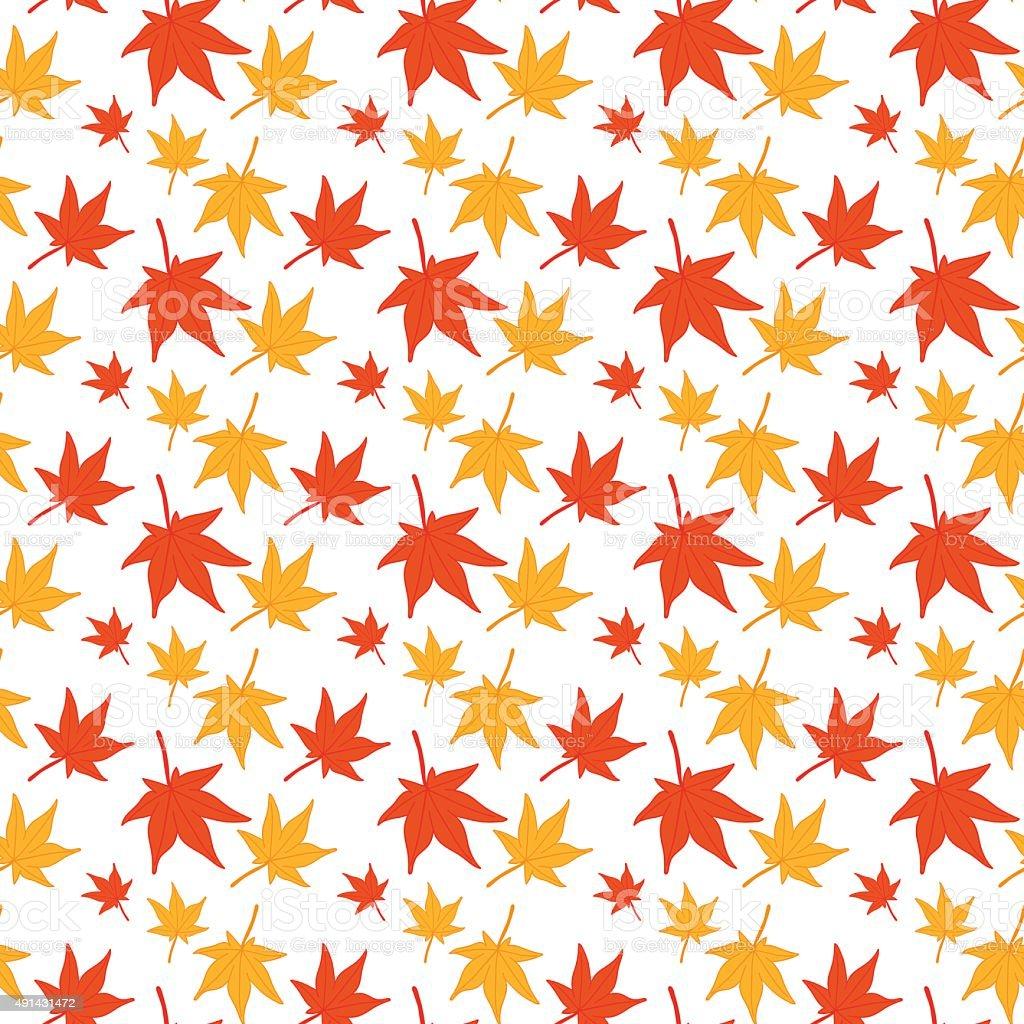 Maple leaves seamless pattern. vector art illustration