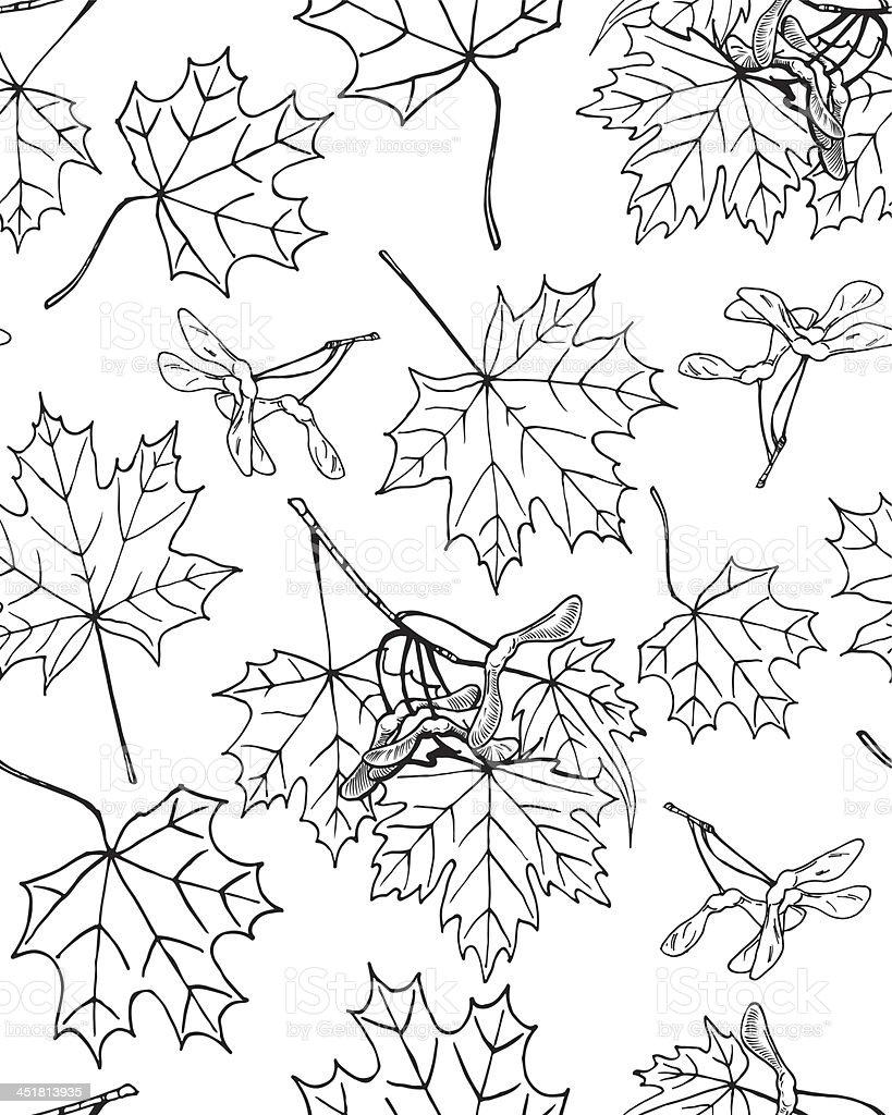 Maple pattern royalty-free stock vector art