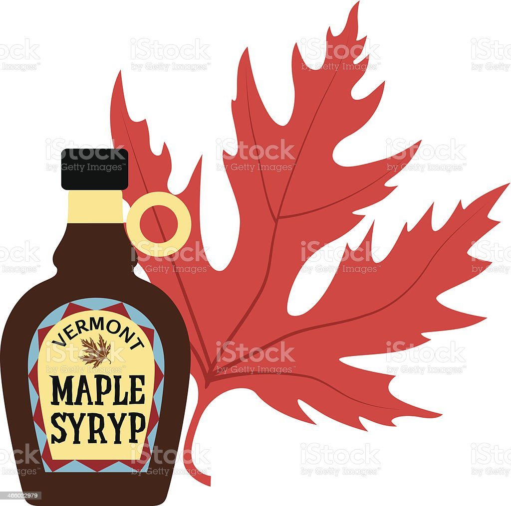 maple syrup color vector art illustration
