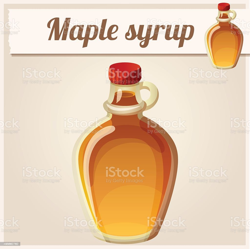 Maple syrup. Detailed Vector Icon vector art illustration