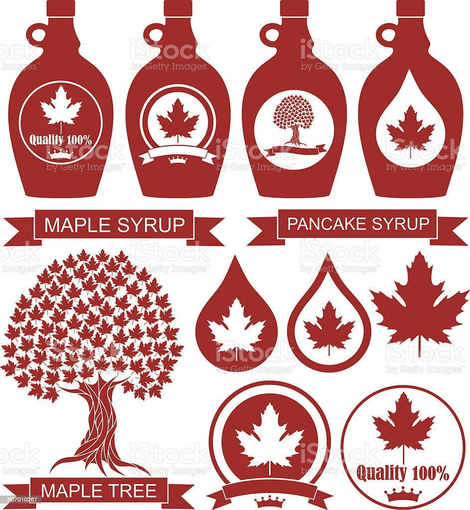 Maple Syrup vector art illustration