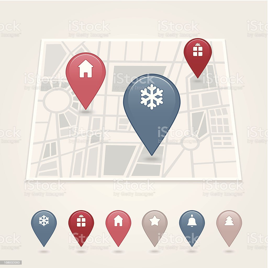 mapping pins icon royalty-free stock vector art