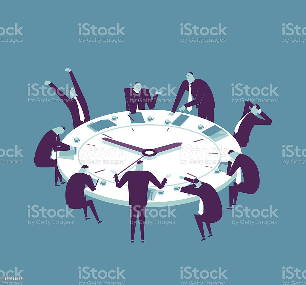 Marathon Meeting vector art illustration