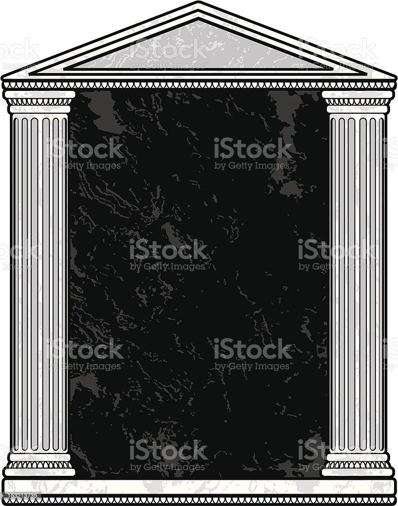 Marble Column Frame vector art illustration
