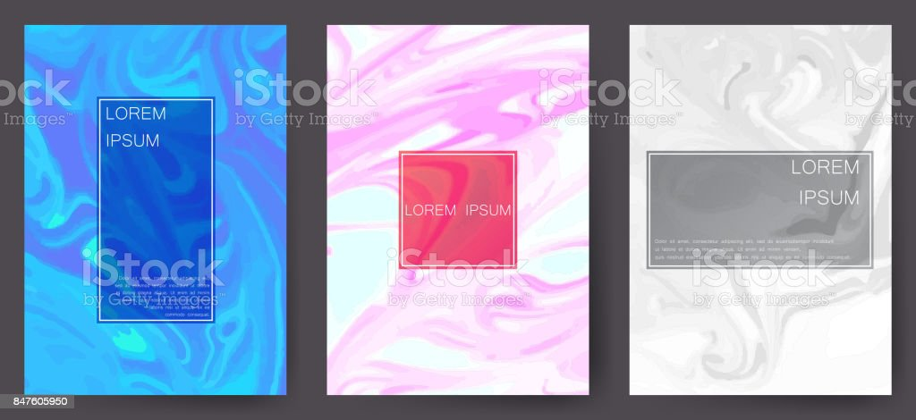 Marble texture covers set. Colorful artistic backgrounds. EPS10 Vector vector art illustration