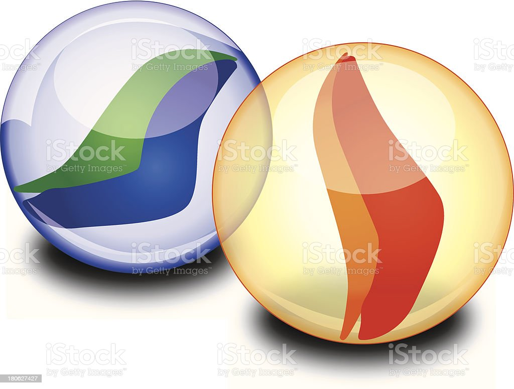 Marbles royalty-free stock vector art