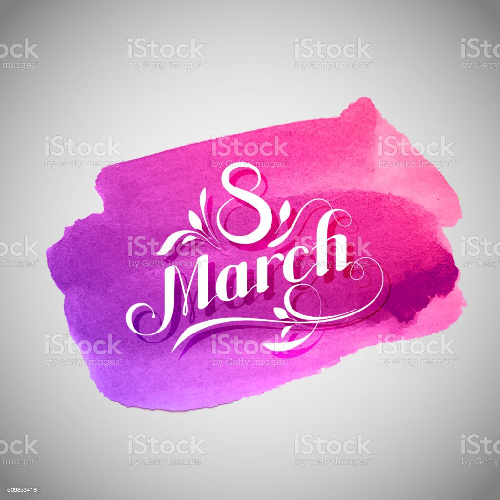 8 March. International Women Day vector art illustration